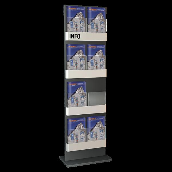 Prospektständer 4 stufig mit 8 Fächer DIN A4 / A5 / DIN lang