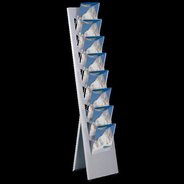 Boden Prospektständer geneigt 8 DIN A4 Prospektfächer