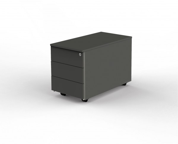 Rollcontainer 80 cm mit 3 Schubladen