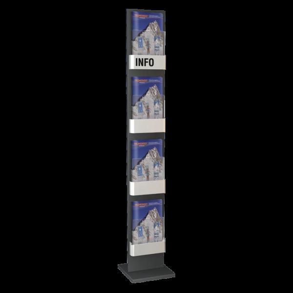 Prospektständer 4 stufig metall stationär